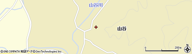 山形県酒田市山谷寺田周辺の地図