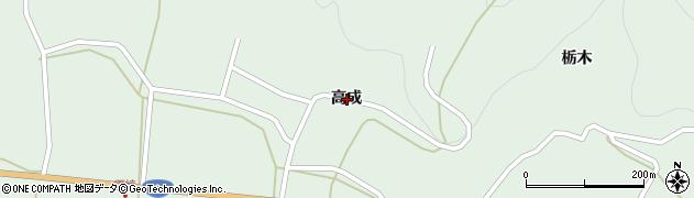 岩手県一関市川崎町薄衣高成周辺の地図