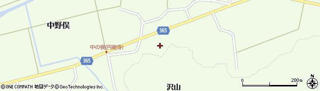 山形県酒田市中野俣岡道38周辺の地図