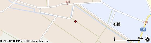 山形県酒田市本川(堰中)周辺の地図