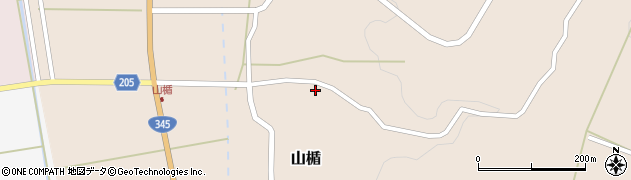 山形県酒田市山楯周辺の地図