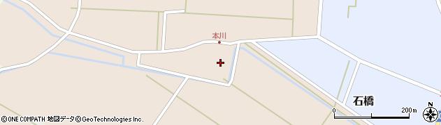 山形県酒田市本川堰中周辺の地図
