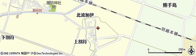 山形県酒田市勝保関北波加伊周辺の地図