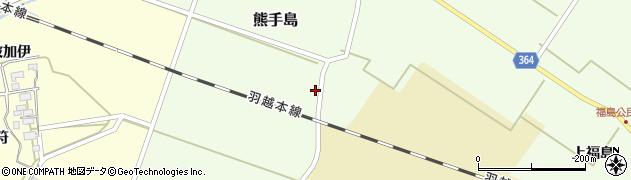 山形県酒田市熊手島熊興屋41周辺の地図