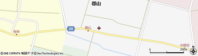 山形県酒田市郡山91周辺の地図