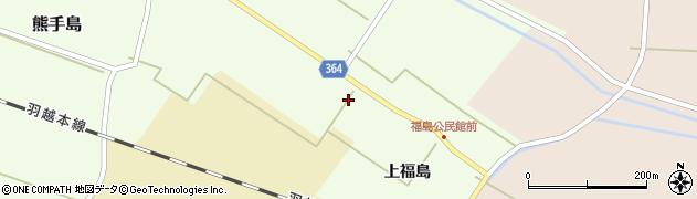 山形県酒田市熊手島上福島45周辺の地図