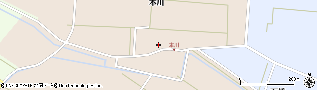 山形県酒田市本川41周辺の地図