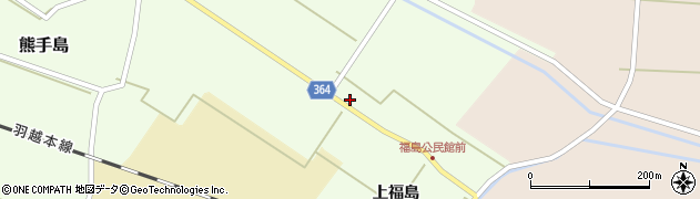 山形県酒田市熊手島中福島14周辺の地図