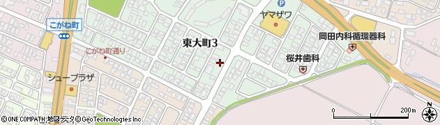 山形県酒田市東大町3丁目周辺の地図