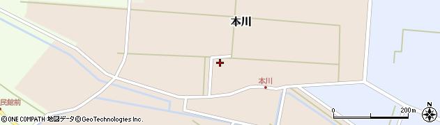 山形県酒田市本川53周辺の地図