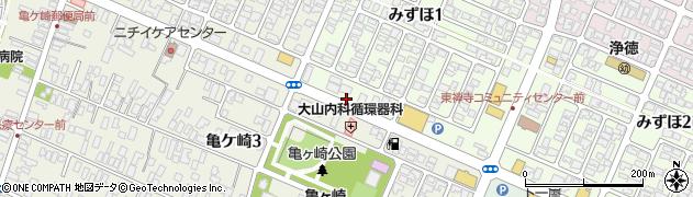 山形県酒田市みずほ1丁目21周辺の地図