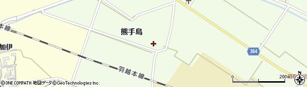 山形県酒田市熊手島熊興屋61周辺の地図