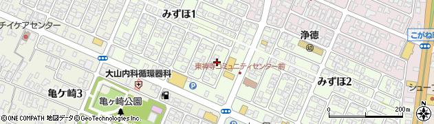 山形県酒田市みずほ1丁目18周辺の地図