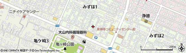 山形県酒田市みずほ1丁目16-4周辺の地図