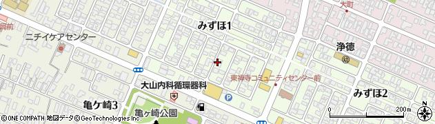 山形県酒田市みずほ1丁目16-8周辺の地図