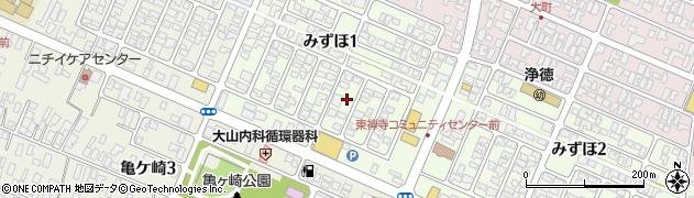 山形県酒田市みずほ1丁目16-3周辺の地図
