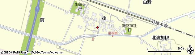 山形県酒田市勝保関周辺の地図