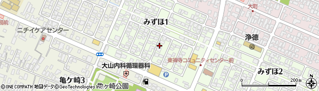 山形県酒田市みずほ1丁目16周辺の地図