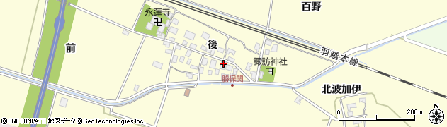 山形県酒田市勝保関前7周辺の地図