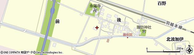 山形県酒田市勝保関前54周辺の地図