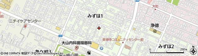 山形県酒田市みずほ1丁目16-9周辺の地図