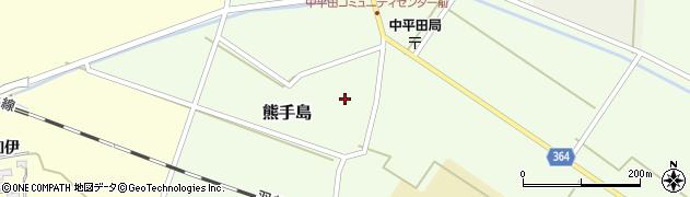 山形県酒田市熊手島周辺の地図