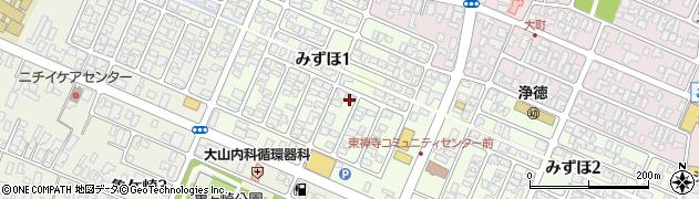 山形県酒田市みずほ1丁目16-2周辺の地図