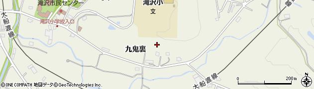 岩手県一関市滝沢周辺の地図