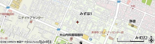 山形県酒田市みずほ1丁目14周辺の地図