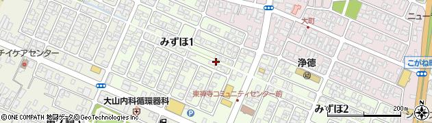 山形県酒田市みずほ1丁目8周辺の地図