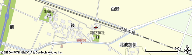 山形県酒田市勝保関百野41周辺の地図