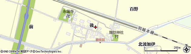 山形県酒田市勝保関後18周辺の地図