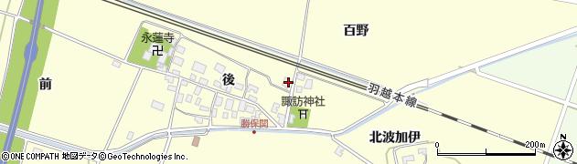 山形県酒田市勝保関後77周辺の地図