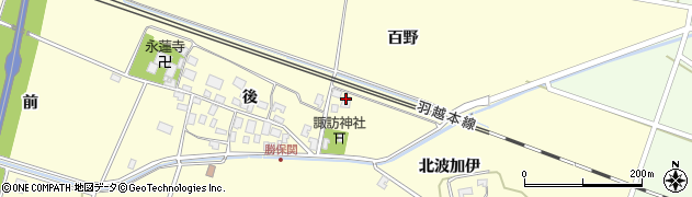 山形県酒田市勝保関百野周辺の地図