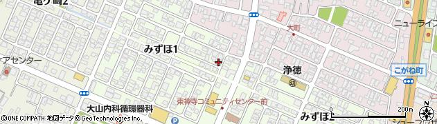 山形県酒田市みずほ1丁目7-10周辺の地図