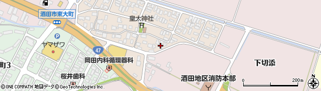 山形県酒田市四ツ興野71周辺の地図