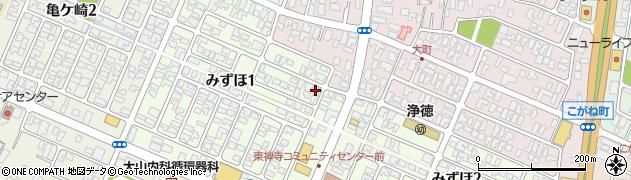 山形県酒田市みずほ1丁目7-9周辺の地図
