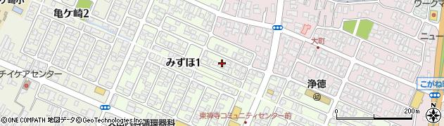 山形県酒田市みずほ1丁目7周辺の地図