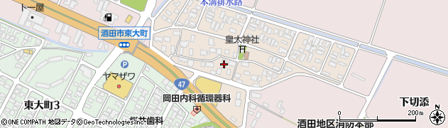 山形県酒田市四ツ興野84周辺の地図