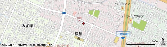山形県酒田市大町16周辺の地図