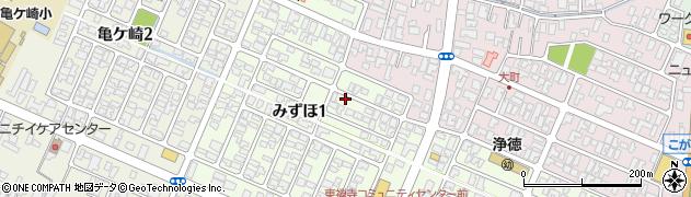 山形県酒田市みずほ1丁目7-1周辺の地図