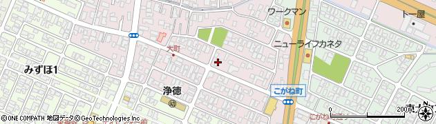 山形県酒田市大町周辺の地図