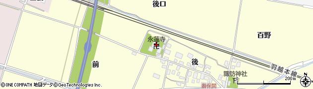 山形県酒田市勝保関後43周辺の地図