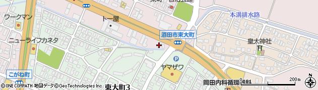 山形県酒田市東町2丁目周辺の地図