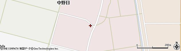 山形県酒田市中野目24周辺の地図