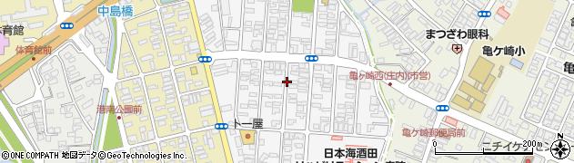 山形県酒田市千石町周辺の地図