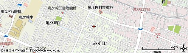 山形県酒田市みずほ1丁目4周辺の地図