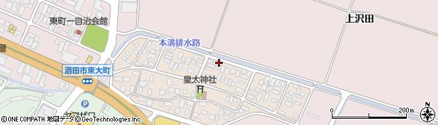山形県酒田市四ツ興野周辺の地図