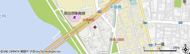山形県酒田市堤町2周辺の地図