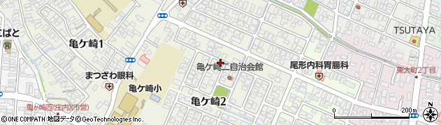 山形県酒田市亀ケ崎2丁目周辺の地図